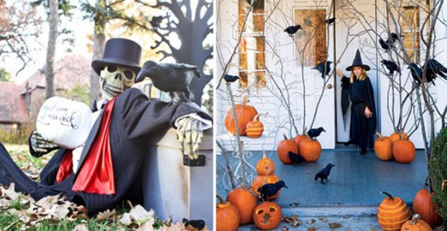 decorative outdoor Halloween decorations