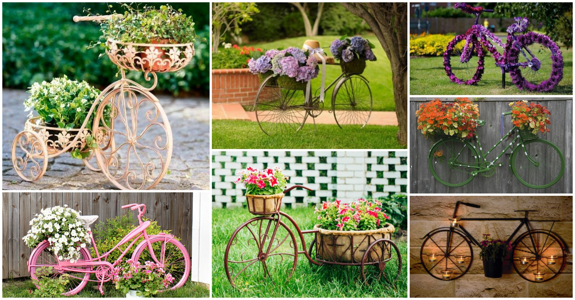 20 Awesome Bicycle Planter Ideas