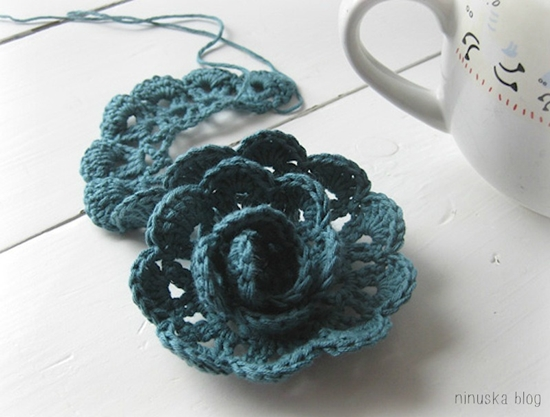 diy crochet lace rose05