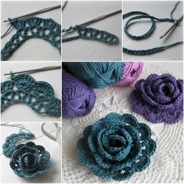 diy crochet lace rose1