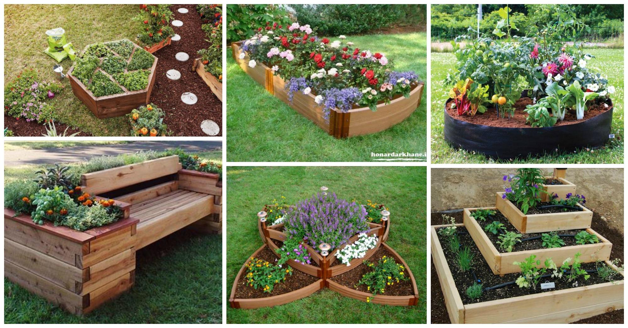 Raised Rock Flower Beds