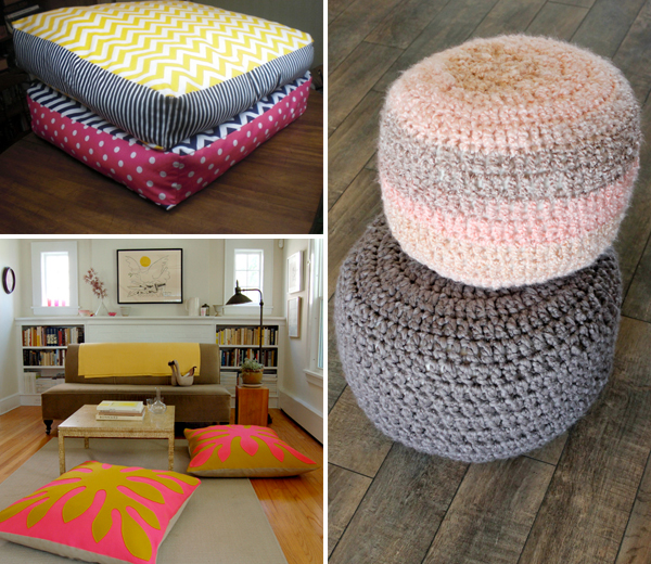 Diy Big Floor Pillows : 10+ DIY Giant Floor Pillows