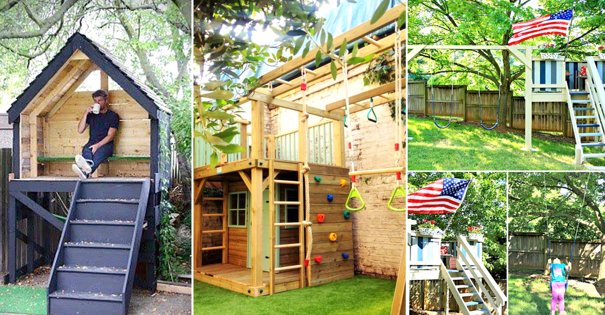 15 Awesome Kids Wooden Playhouses For Your Yard