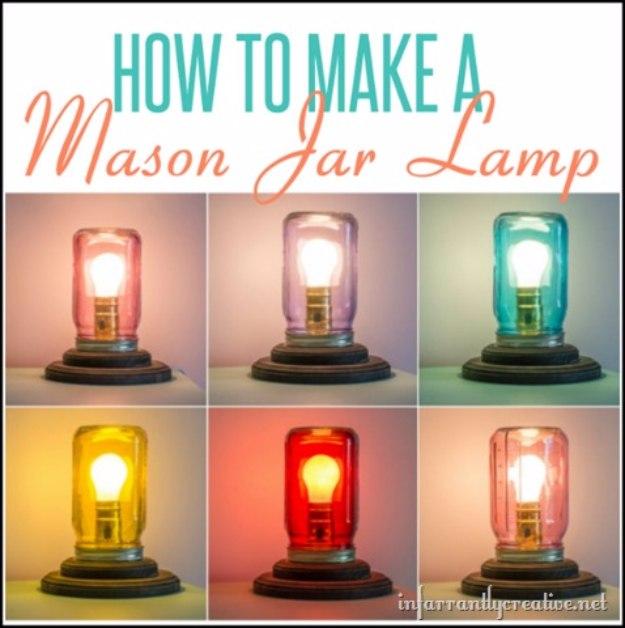20+ DIY Mason Jar Lighting Ideas