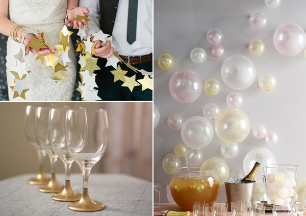 17 easy diy new year s eve decorations for Decoration new year