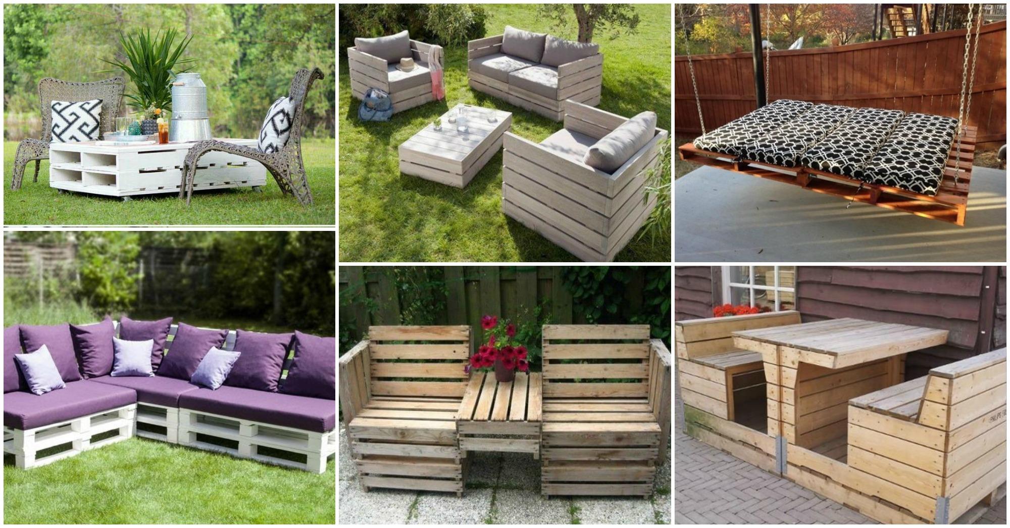 15 ingenious outdoor diy pallet projects for Idea deco guijarro exterior