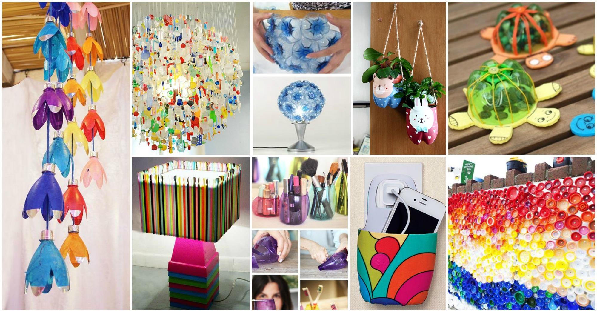 Diy creative recycled plastic crafts for Ideas para decorar tu casa reciclando