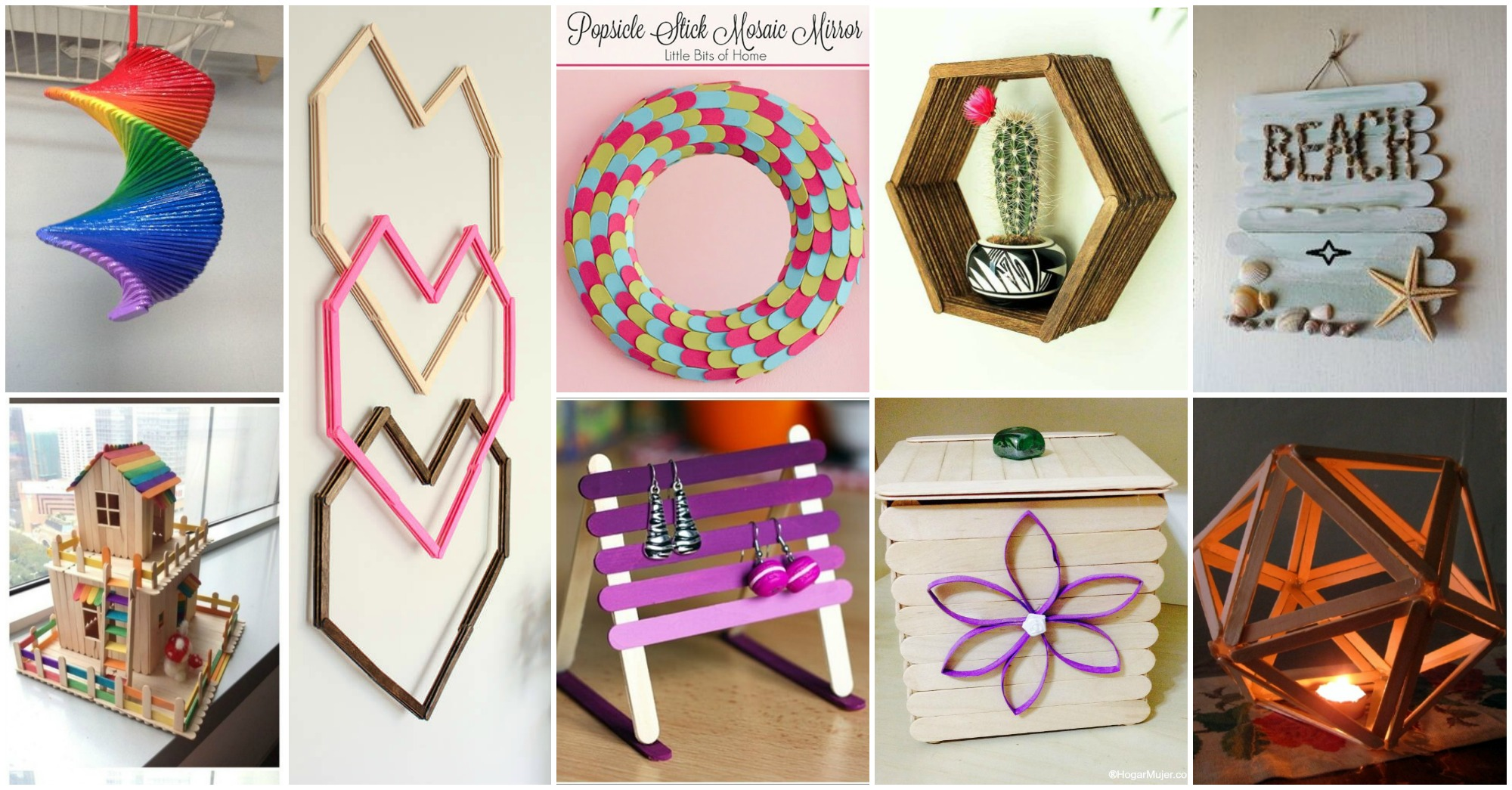 13 diy popsicle sticks home decor ideas for Decorative items for home with waste material