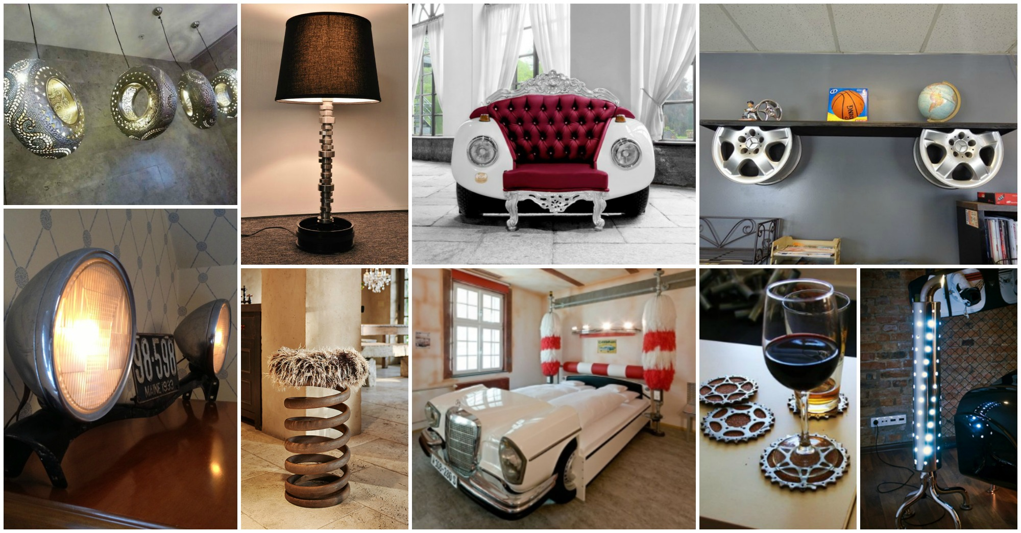 15 fascinating recycled car parts ideas for Diy car interior decor