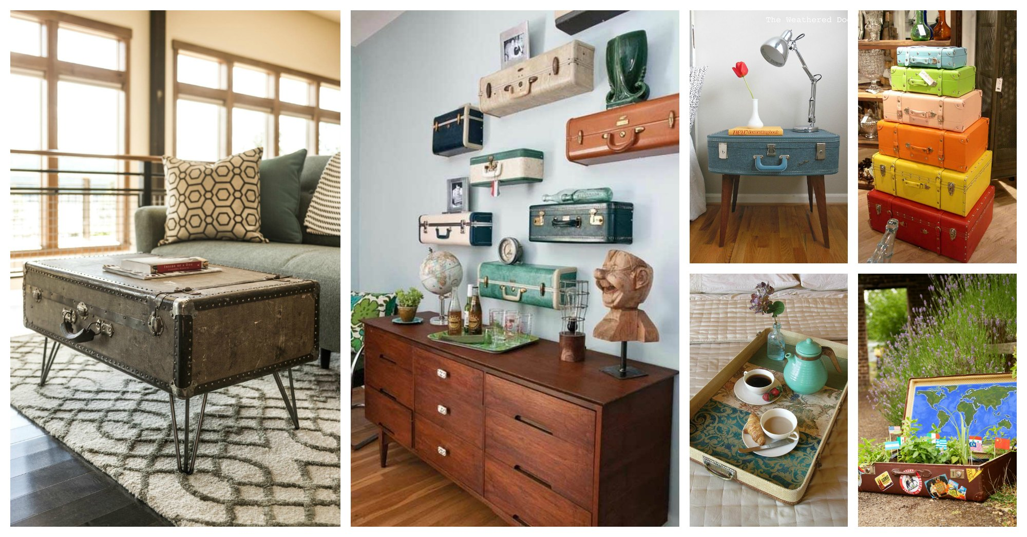 15 Decorating Ideas With Repurposed Old Suitcases