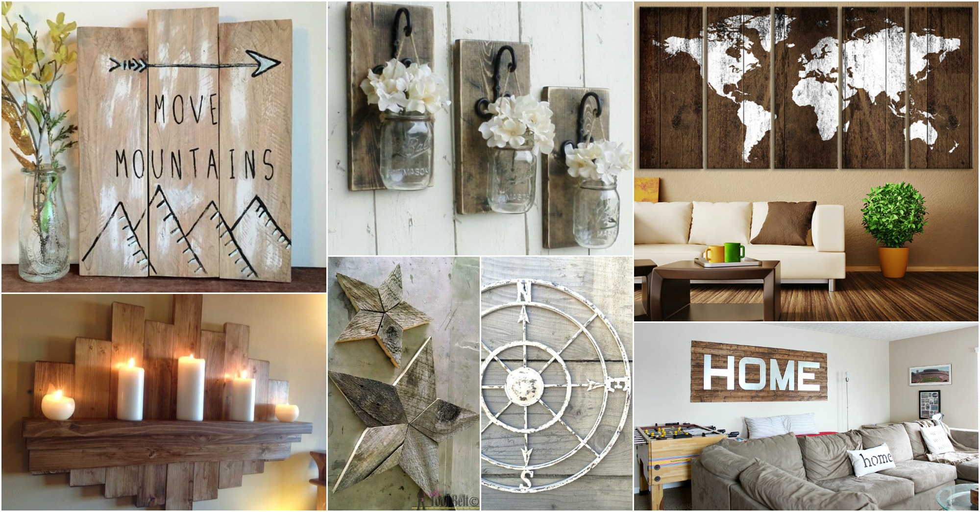 Wall Art Ideas: 15+ Fantastic Rustic Wall Art Ideas