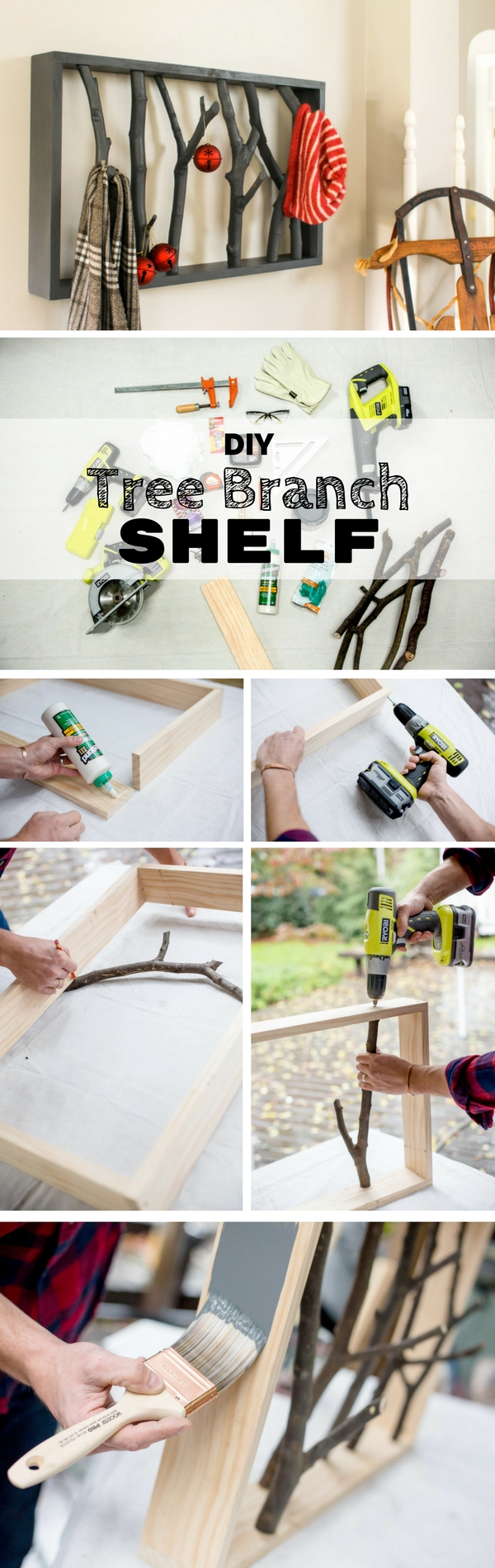 diy shelves build home 1