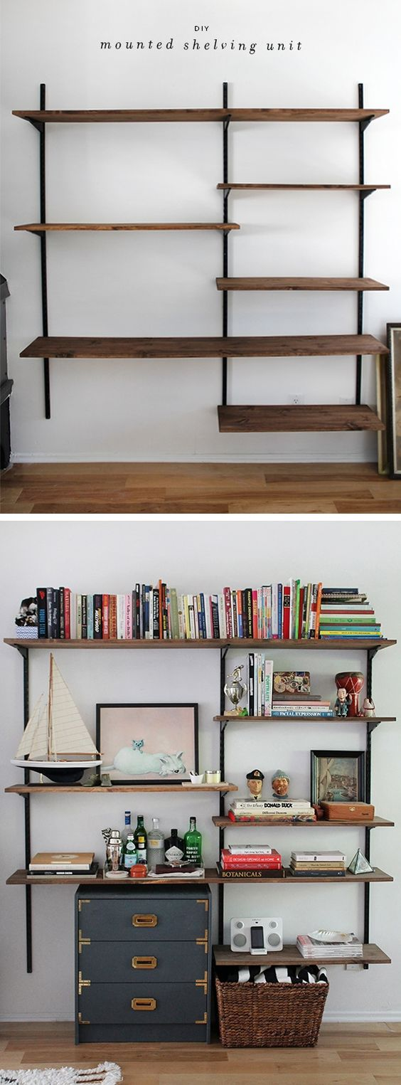 diy shelves build home 16