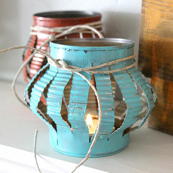 Mobile Home Decorating: 13+ DIY Tin Cans Into Adorable Decor Ideas
