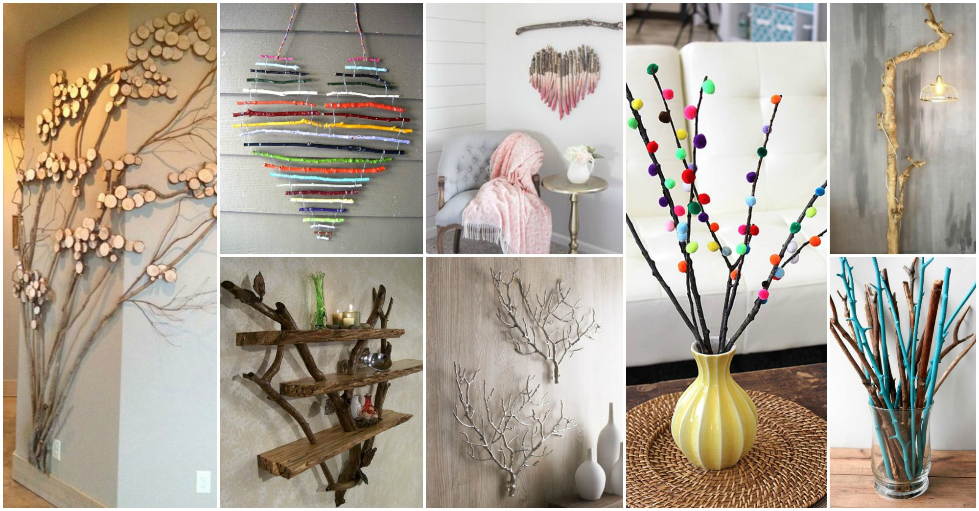 Diy tree branches home decor ideas for Ideas to decorate your house