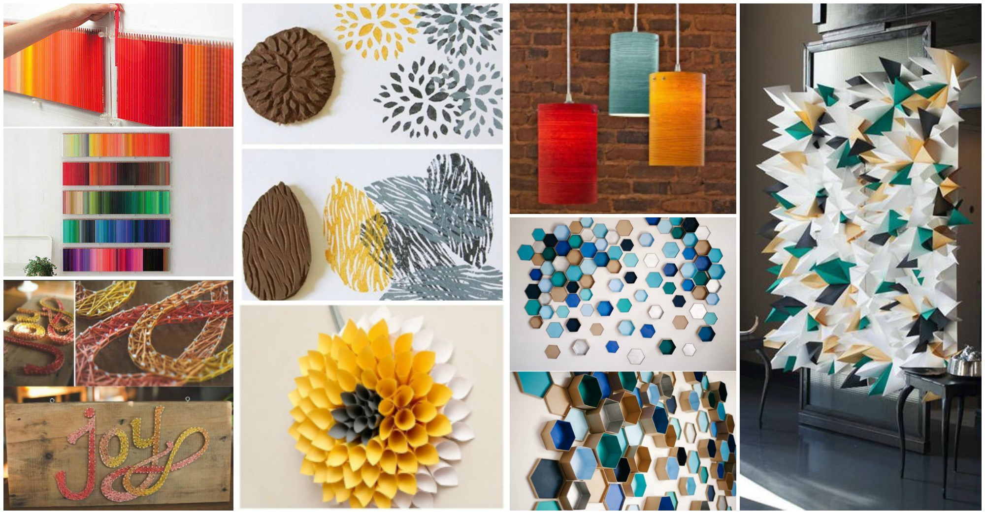 13 fantastic diy wall decor crafts for Wall decoration items