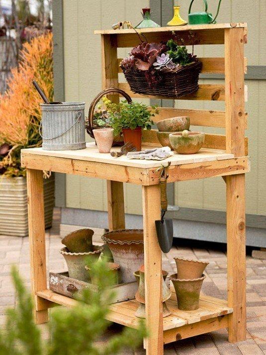 diy wooden decor garden 11