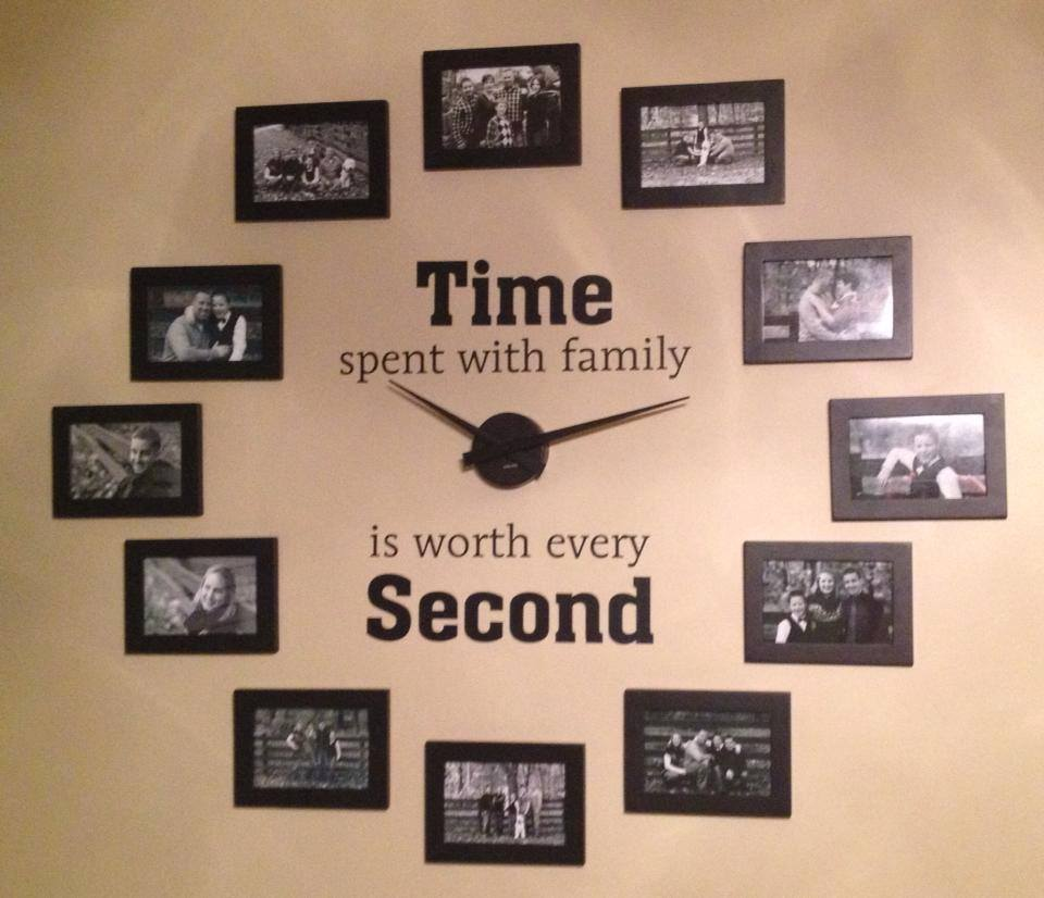 family-photo-wall-clock