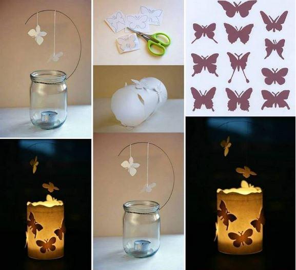 floating butterfly lantern