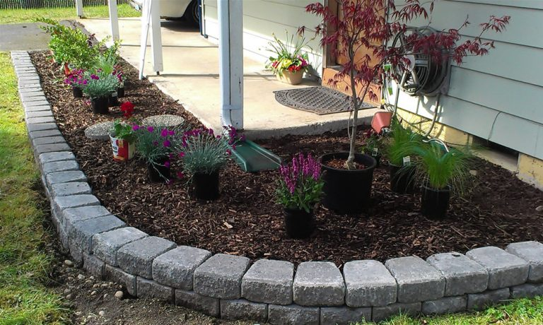 Decorative Stones For Flower Beds : Impressive diy flower beds for your garden