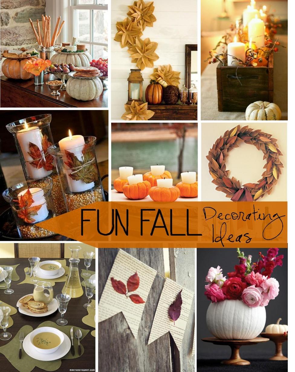 fun fall decorating