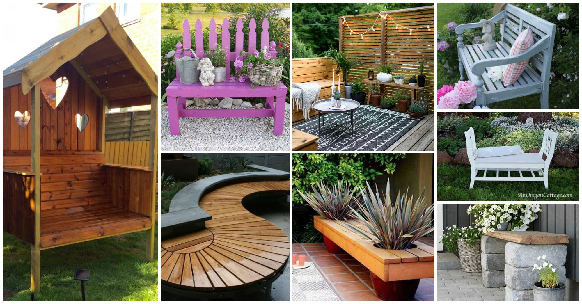 20 Pretty Amp Awesome Diy Front Yard Benches