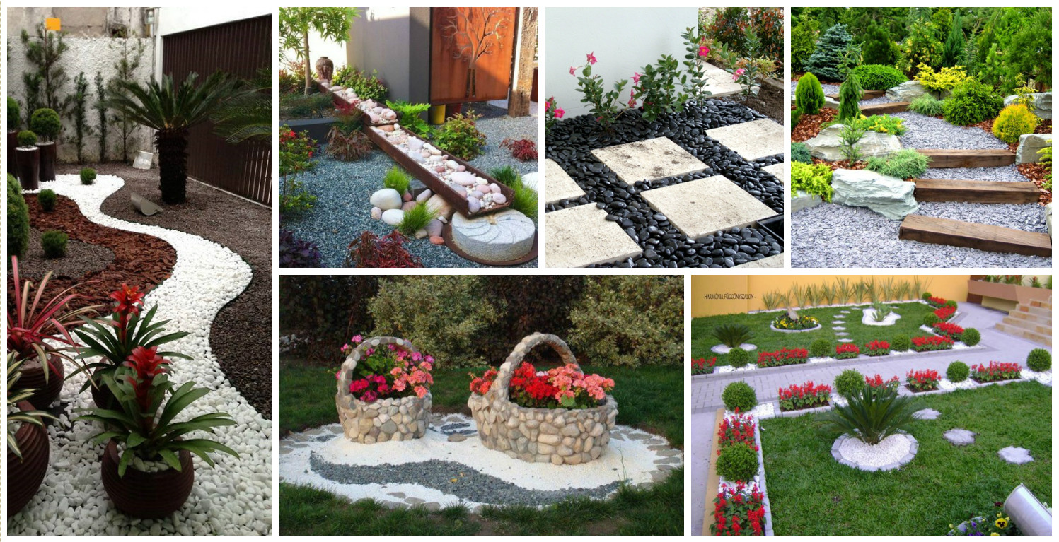 10 delightful garden decorations with pebbles for Decoration patio exterieur