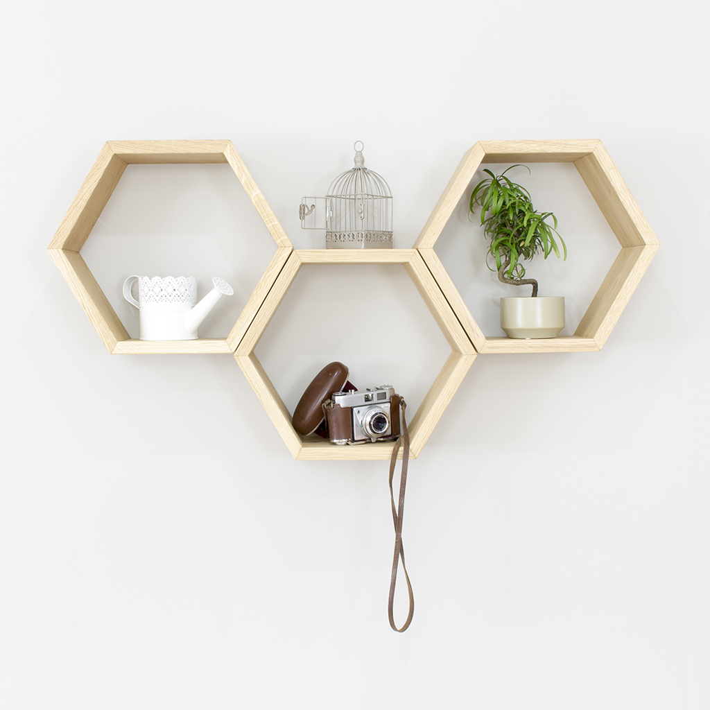 DIY Geometric Shelves That Will Add Dimension In Your Room