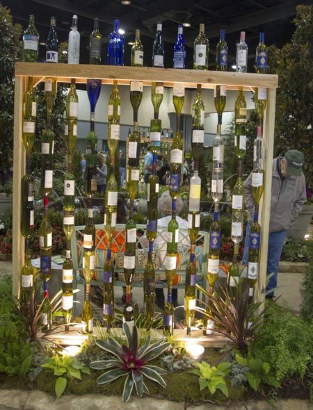 12 Diy Glass Bottles Garden Decor on Art Recycled Car Parts Furniture