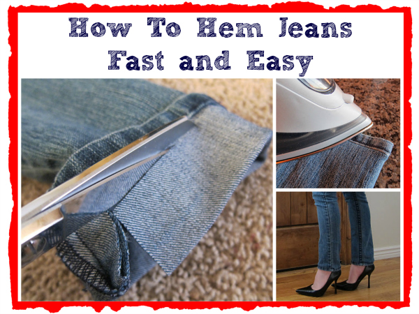 hem jeans fast and easy