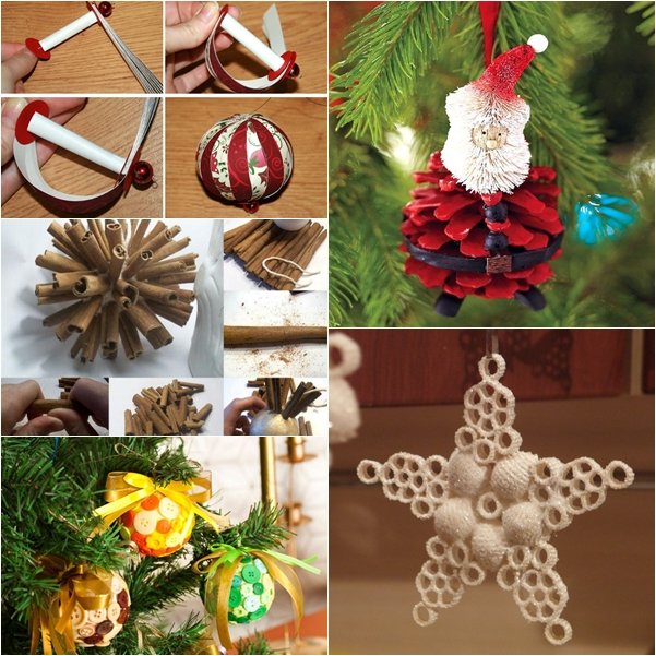 Diy homemade christmas ornaments Easy christmas decorations to make at home