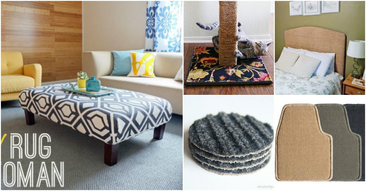 15 Brilliant Carpet Repurposing Ideas