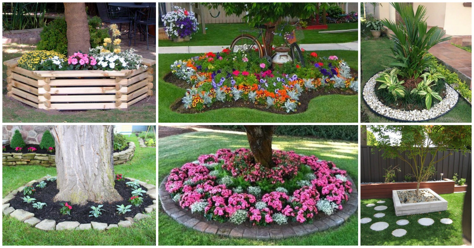 15 fascinating flower beds around tree for Planting a flower bed ideas