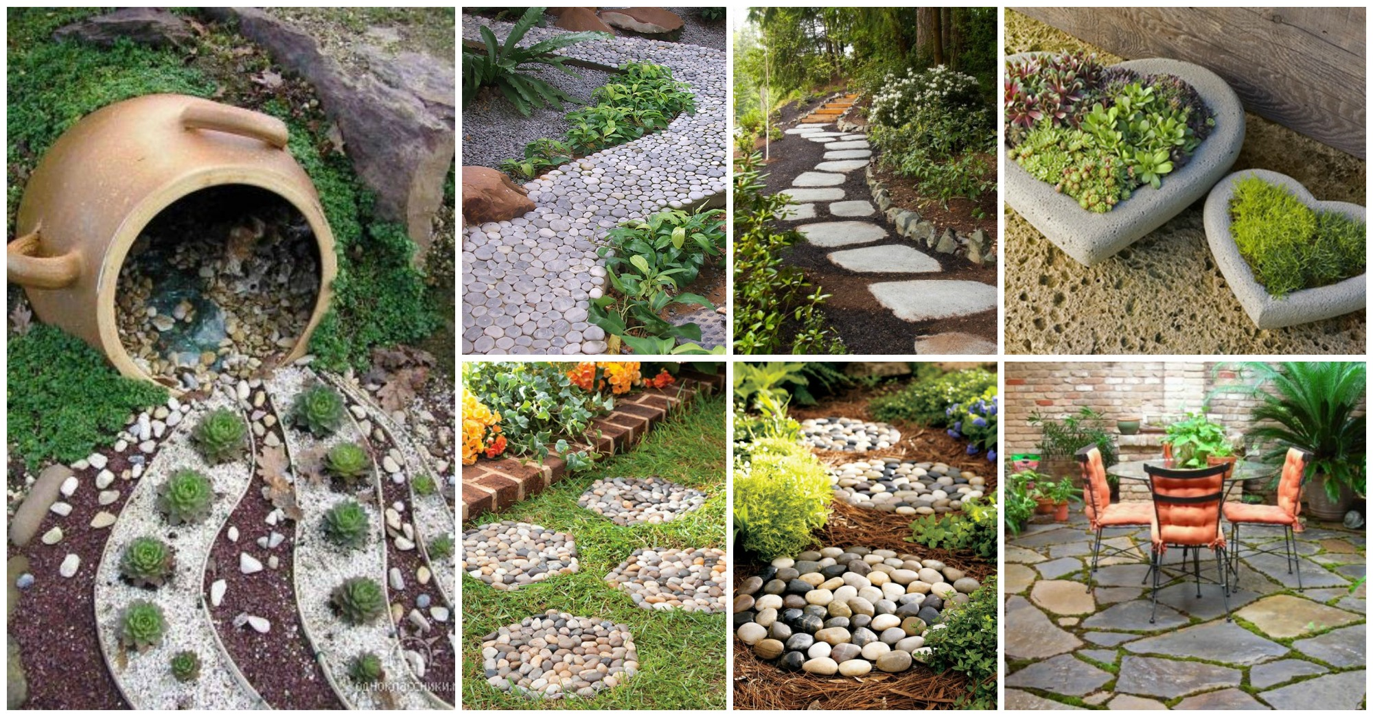15 awesome garden decor with stones for Camino de piedra para jardin