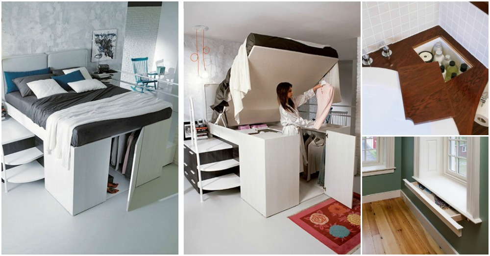 25 clever hidden storage solutions you 39 ll wish you had at for Hidden storage ideas