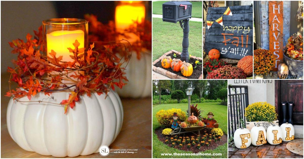 Diy Fall Home Decor Ideas 2018: 15+ DIY Outdoor Fall Decorations