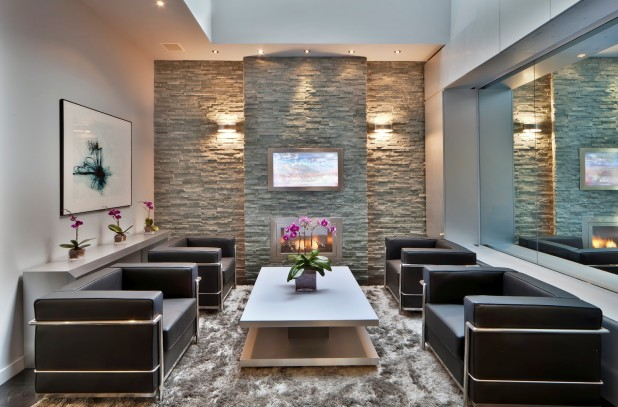 living room interiors with stone 11