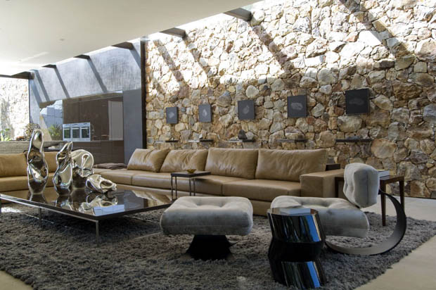 living room interiors with stone 17