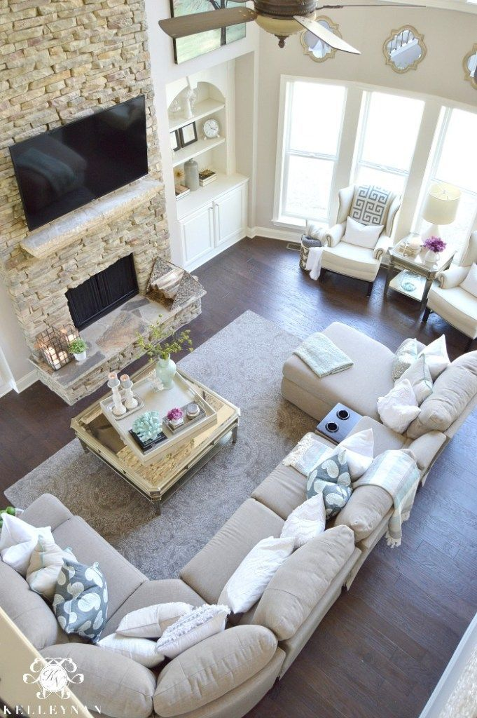 living room interiors with stone 2