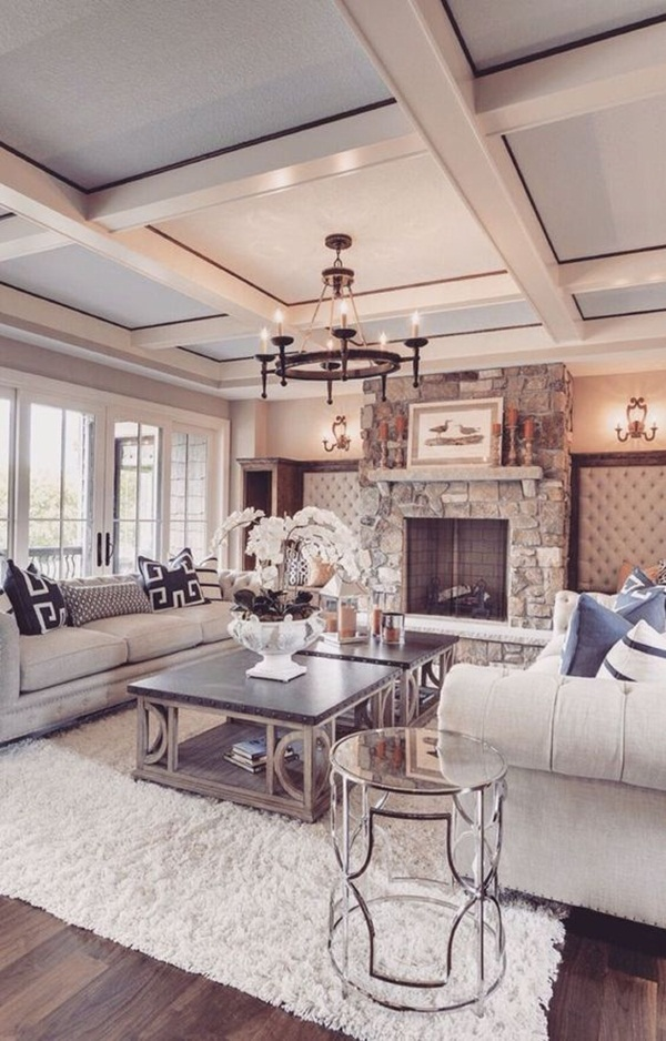 living room interiors with stone 3