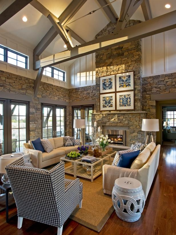 living room interiors with stone 4