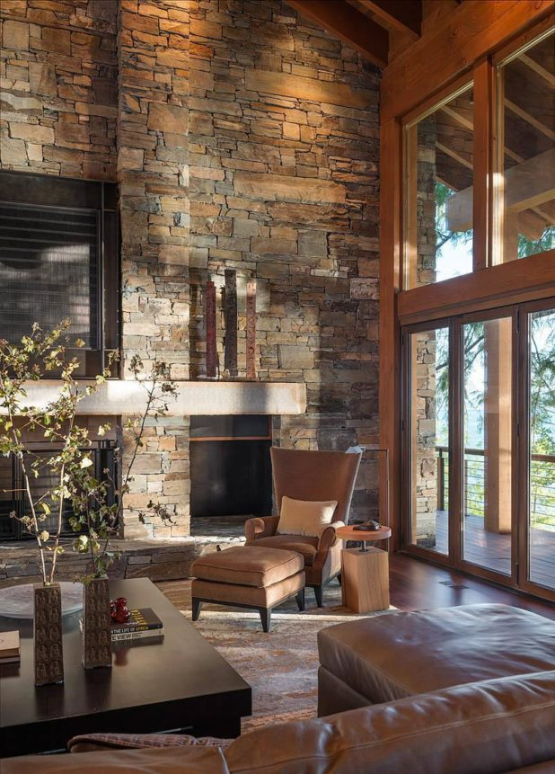 living room interiors with stone 6