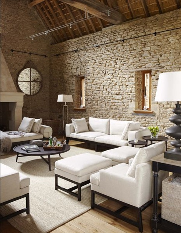 living room interiors with stone 9