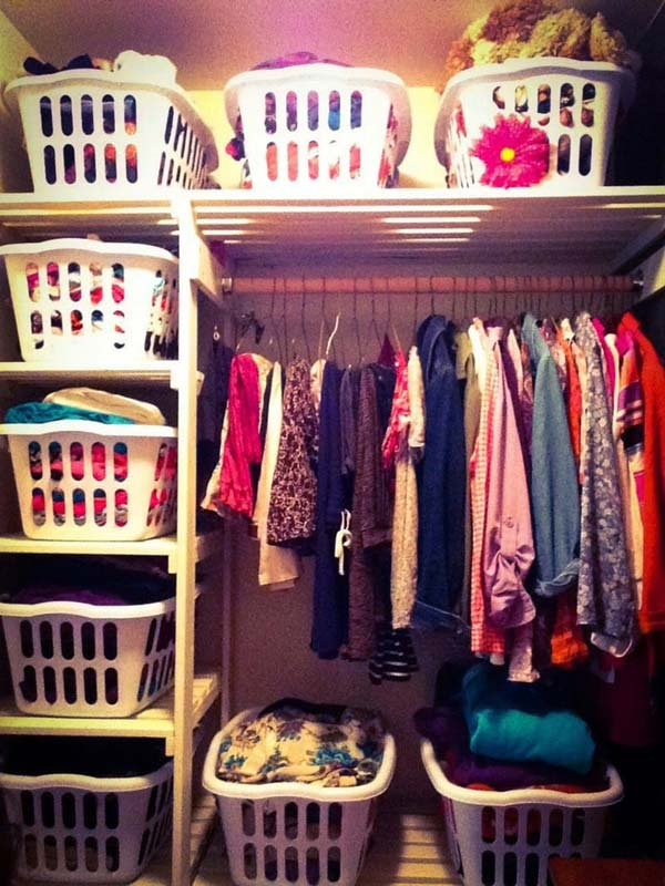 15+ Low Cost DIY Closet for The Clothes Storage
