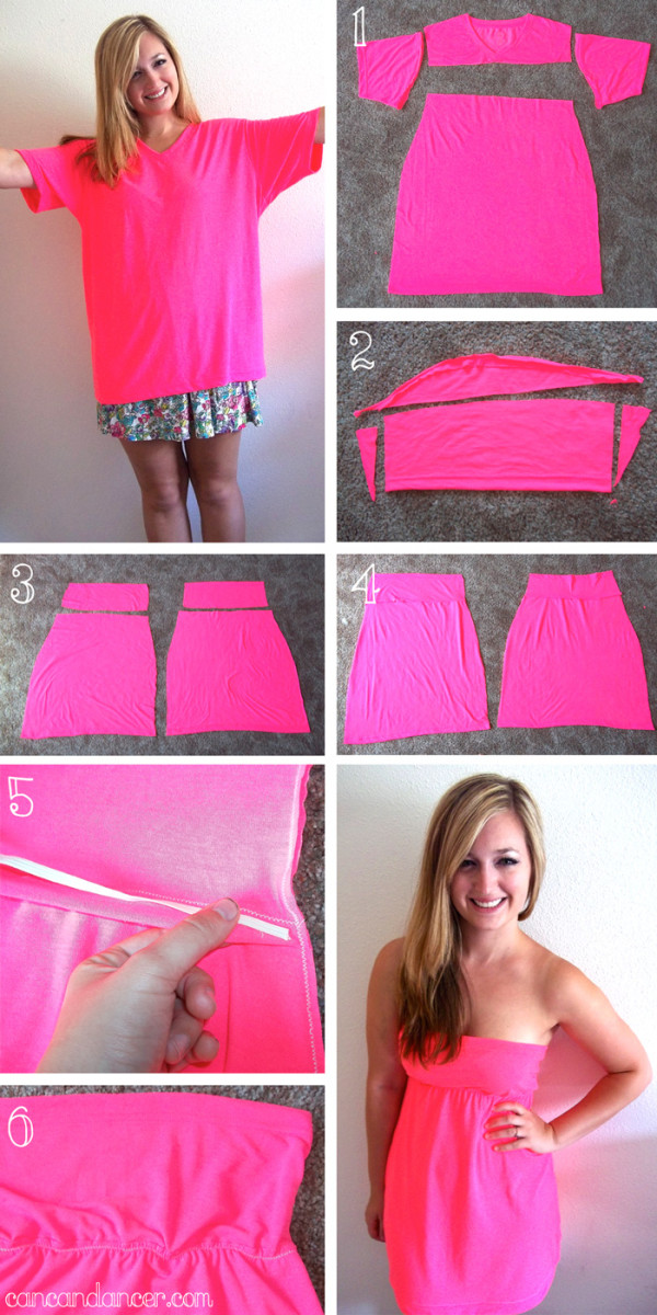 How to Make a Beautiful Dresse From Simple T Shirt