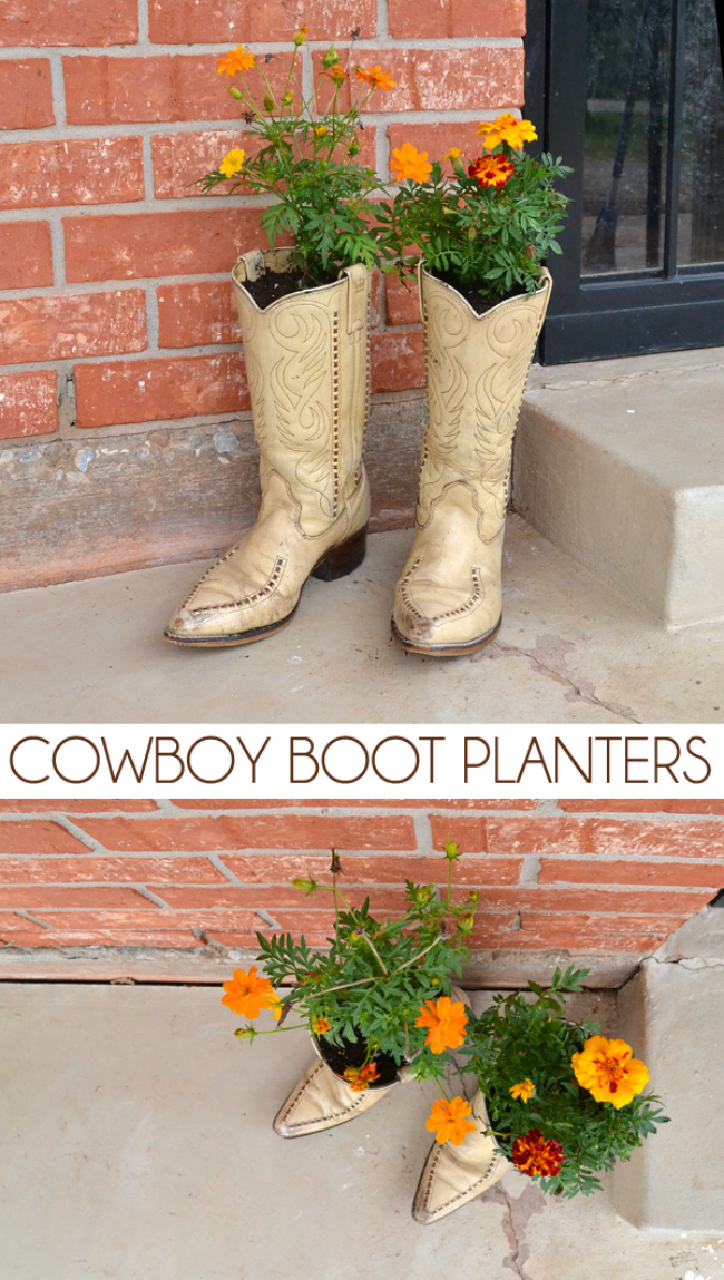 old shoes planter 10
