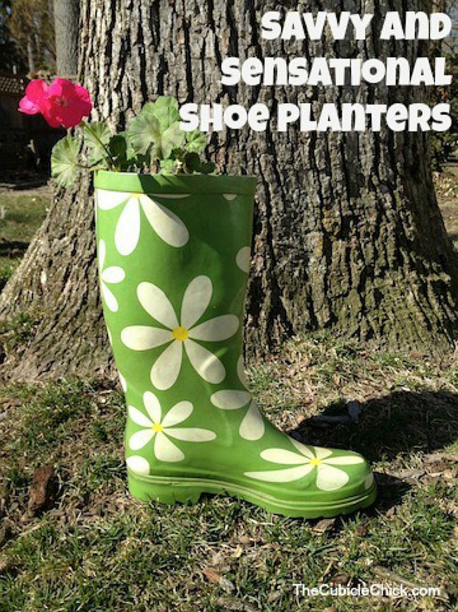 old shoes planter 9