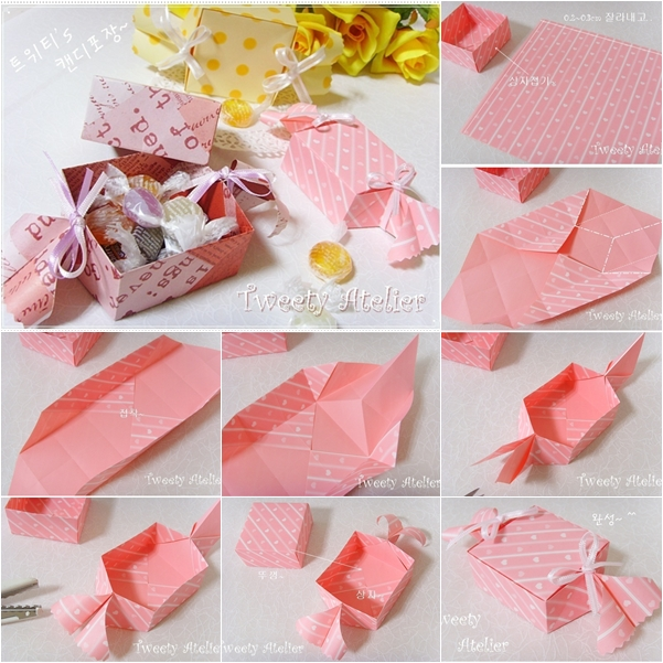 Diy Little Gift Box Candy Shaped Paper