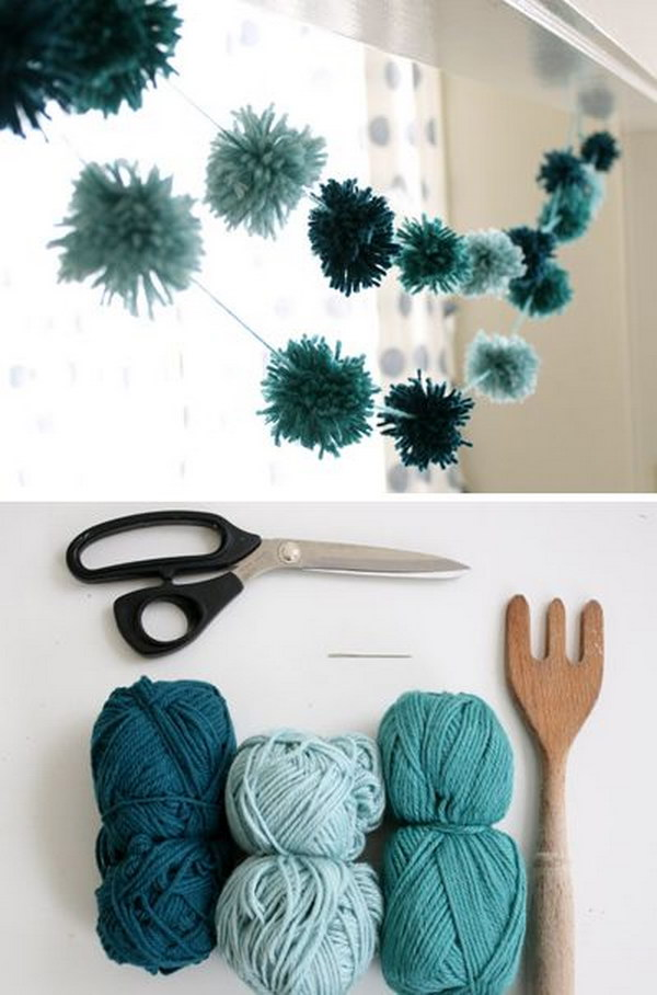 15+ Adorable Pom Pom Decor Ideas