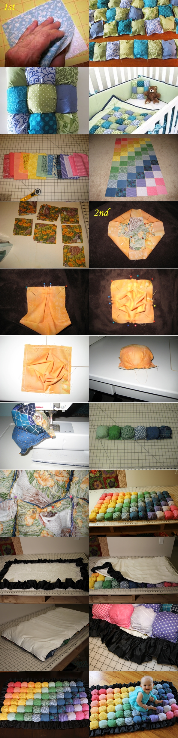 DIY Bubble Quilt or Biscuit Quilt Tutorial